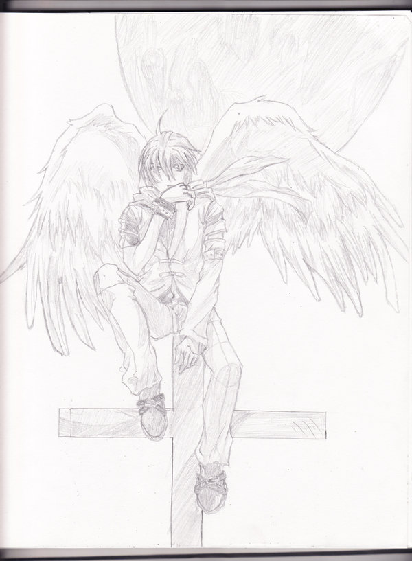 600x817 Anime Angel Boy By Aoi Ookami