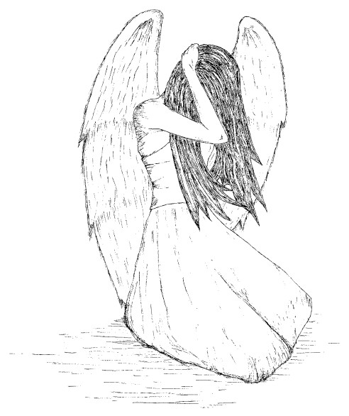 492x586 Crying Angel By Teardropsintheocean