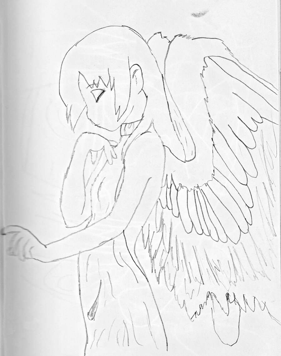 900x1138 Angel Anime Girl by TatsuruRAWRZ on DeviantArt