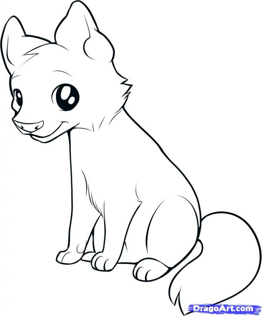 847x1024 Animal Drawings Easy How To Draw Kawaii Animals Step Step Anime