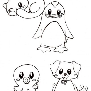 320x320 Tag For Cute animal drawings Cute Drawings Of Animals Furry