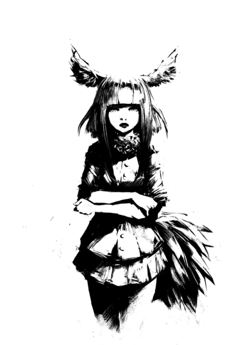 500x690 anime black and white tumblr Tumblr