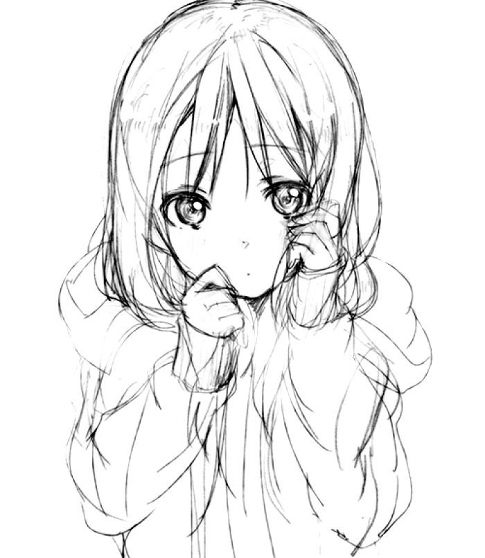 700x805 Anime Girl Drawing Ideas