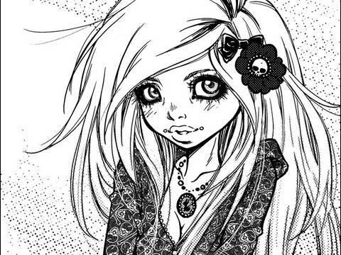 480x360 Digital Manga Drawing Inking screentone