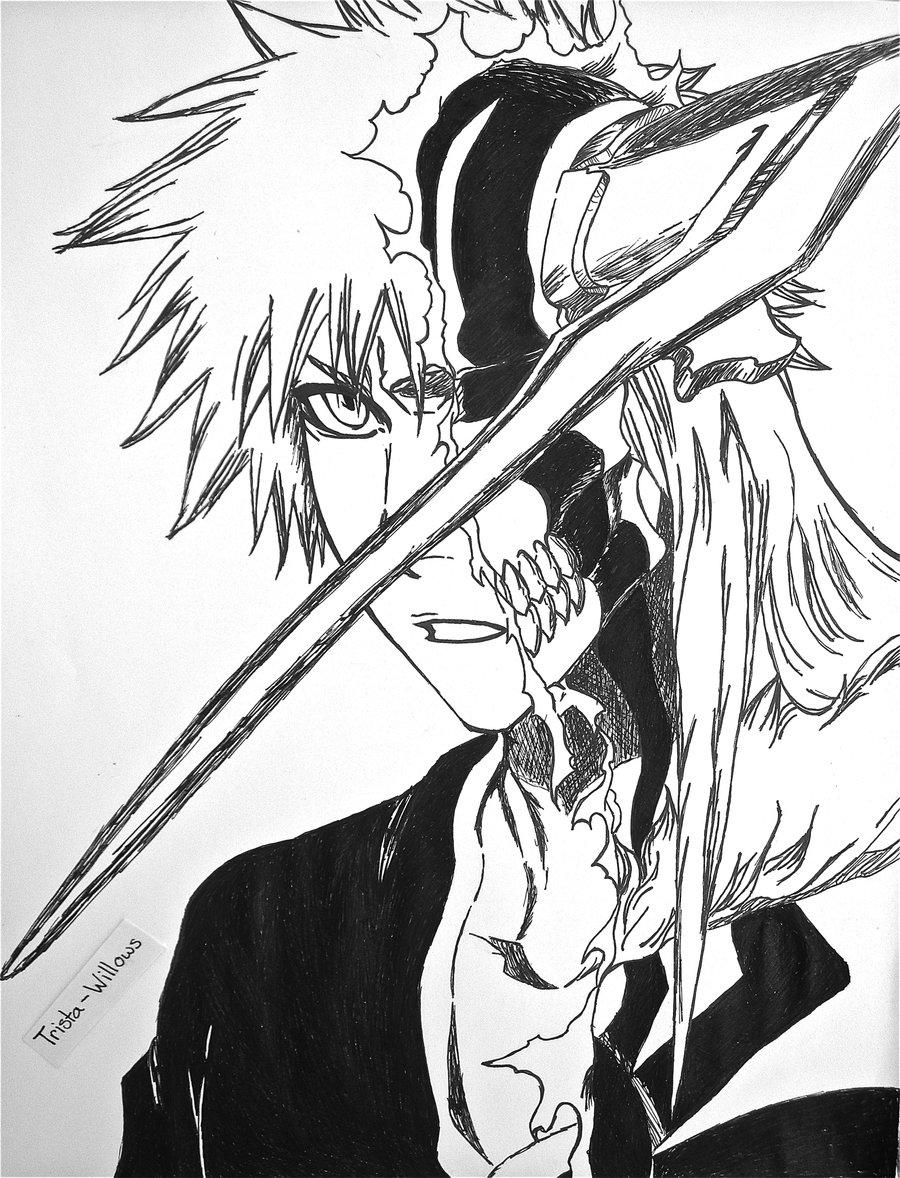 900x1178 Ichigo Line Art By Trista Willows