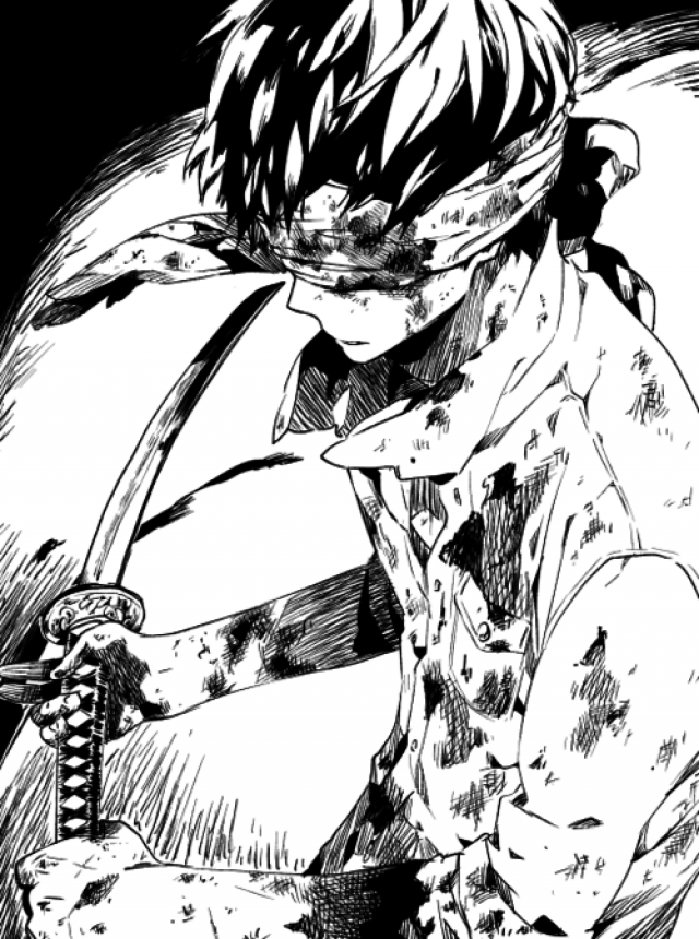 Nice 640x860 Manga Anime Blackandwhite Sword Kill Blood