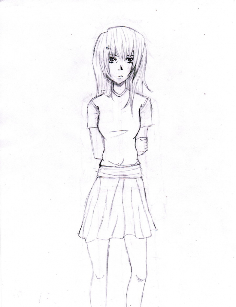 786x1024 Anime Drawing Girl Full Body