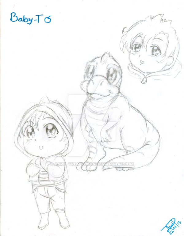 600x770 Baby T Sketch ( Anime Human Version ) By Avril Tron Lukon