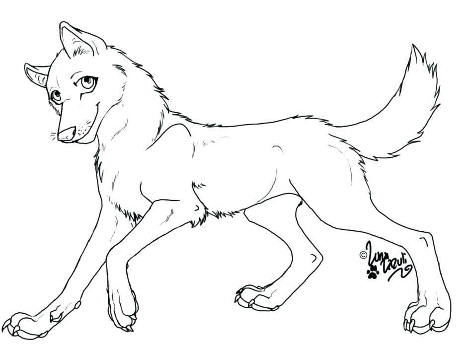 940x701 Cute Anime Coloring Pages To Print Anime Wolf Coloring Pages Baby