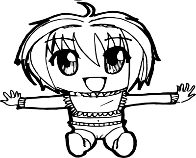 400x322 Anime Boy Coloring Pages Baby Page Wecoloringpage
