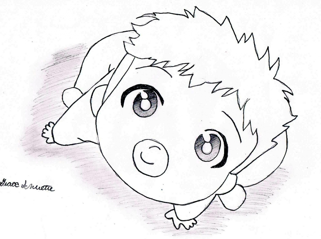 1024x763 How To Draw Baby Pictures How To Draw Anime Ba Sketch Coloring