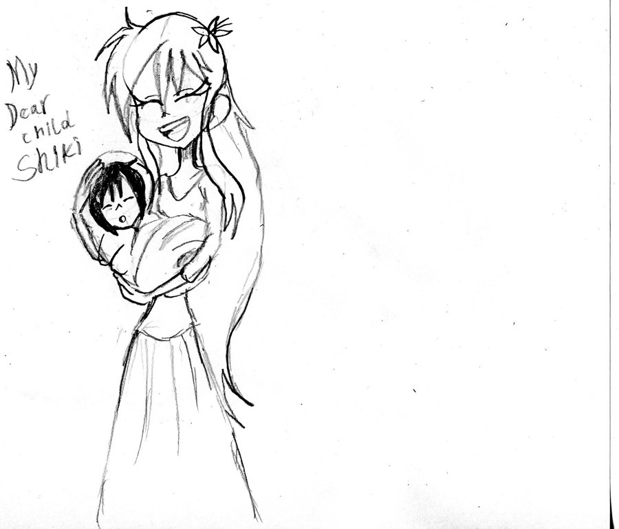 900x770 Shiki's Mother And Baby Shiki Sketch By Armonsterz
