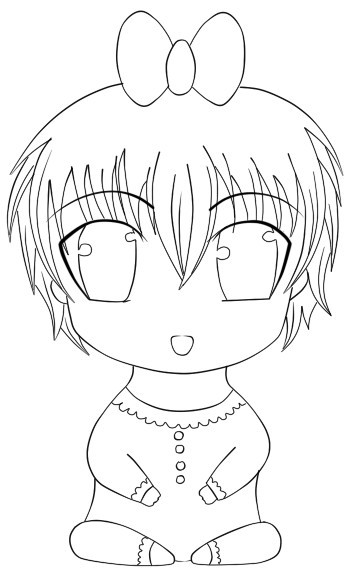 362x588 Anime Baby Lineart By Kerlyyy