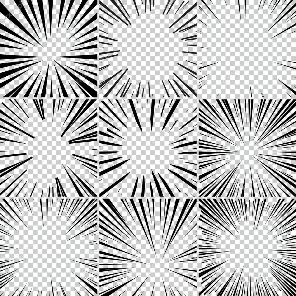 1024x1024 Comic Book Superhero Pop Art Style Black And White Radial Lines