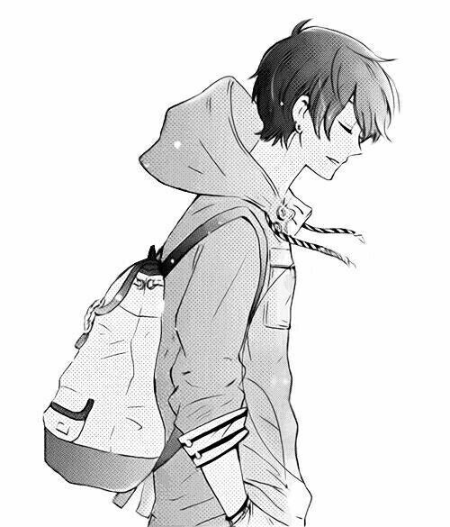 Anime Backpack Drawing
