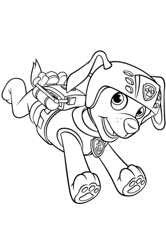 340x480 Zuma With Scuba Gear Backpack Coloring Page Free Printable