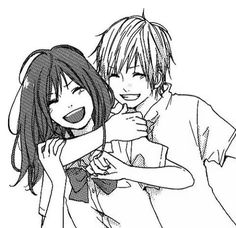 236x228 Anime Boy And Girl Friendship Drawing