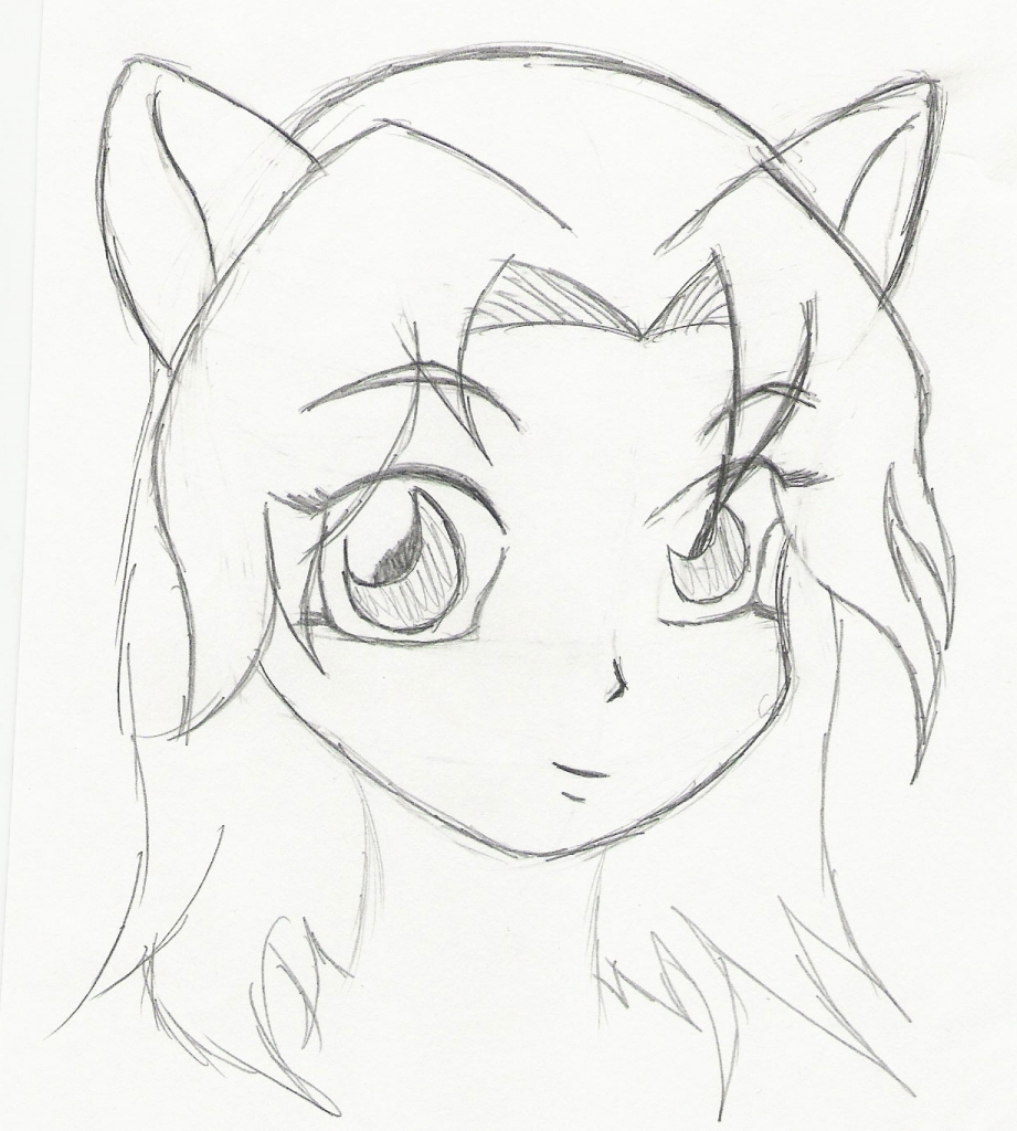 921x1024 Basic Anime Sketches