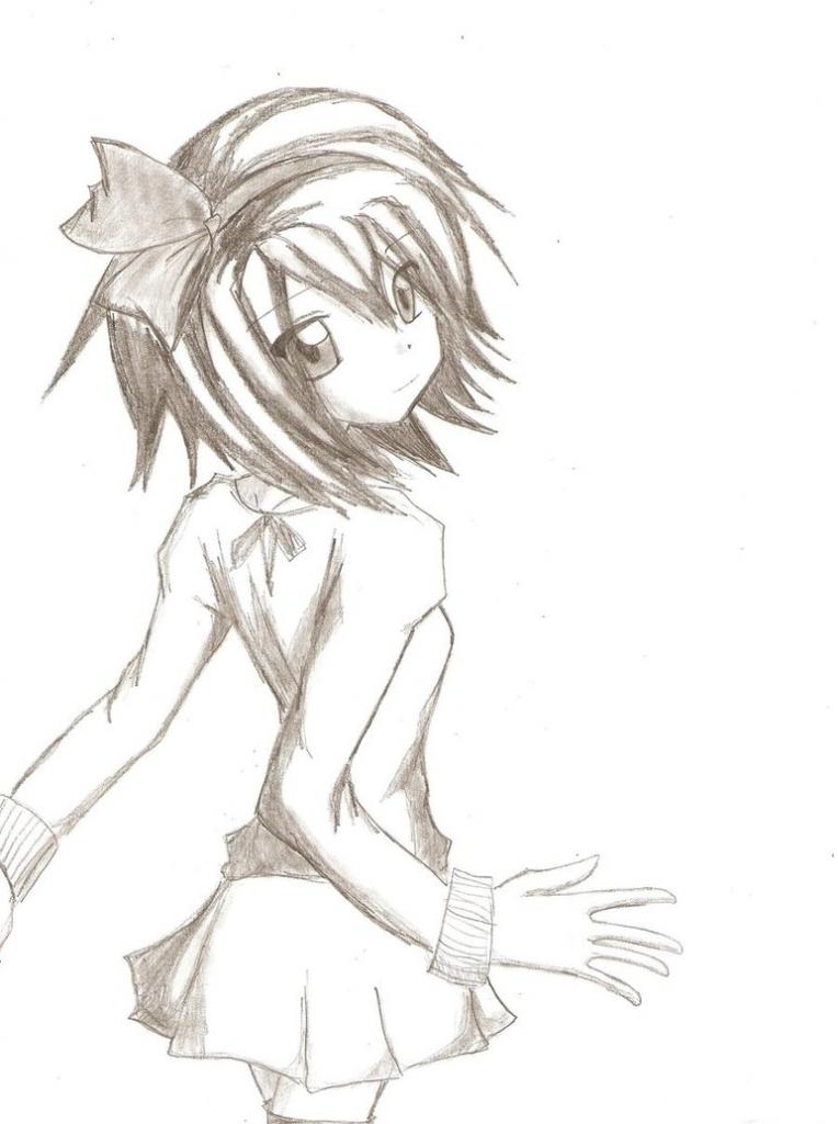 764x1024 Beginner Anime Drawings Anime Girl Sohma247