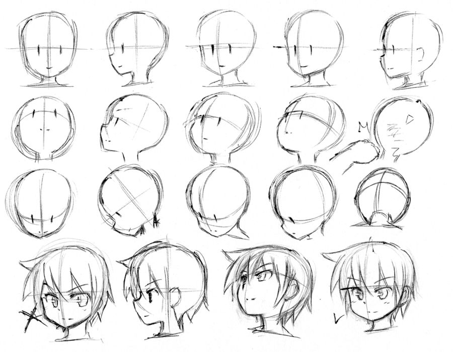 900x701 Drawing How To Draw Basicnime Heads Wells How To Draw