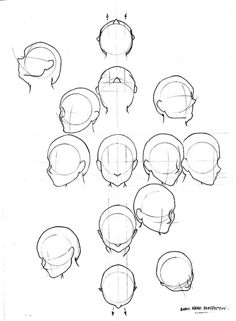 470x640 Head Perspective How To Draw Anime Amp Manga