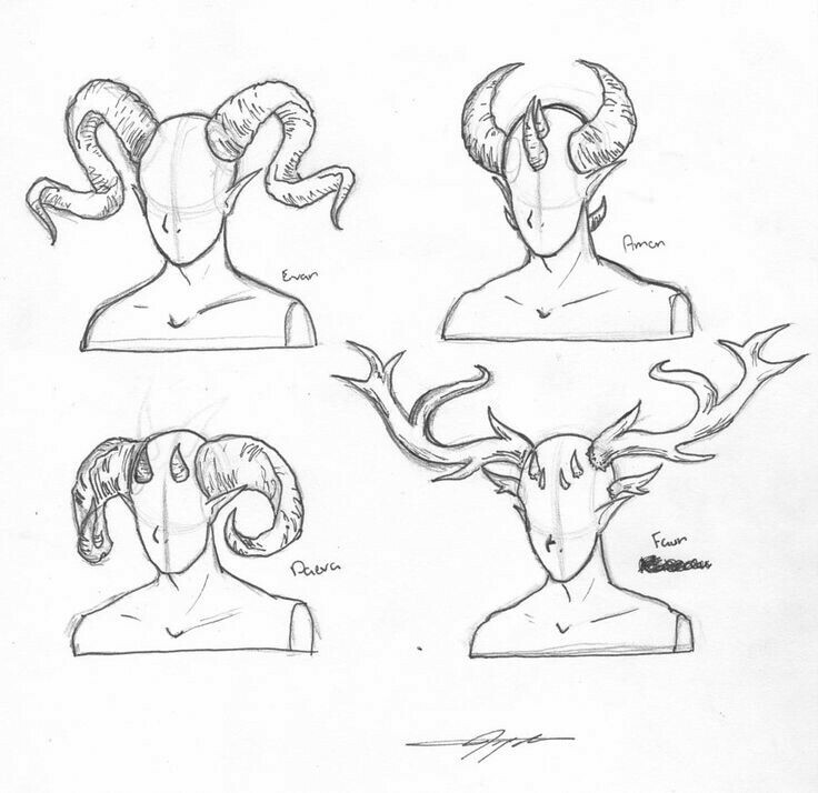 736x714 Horns, Text How To Draw Mangaanime Anime Tips