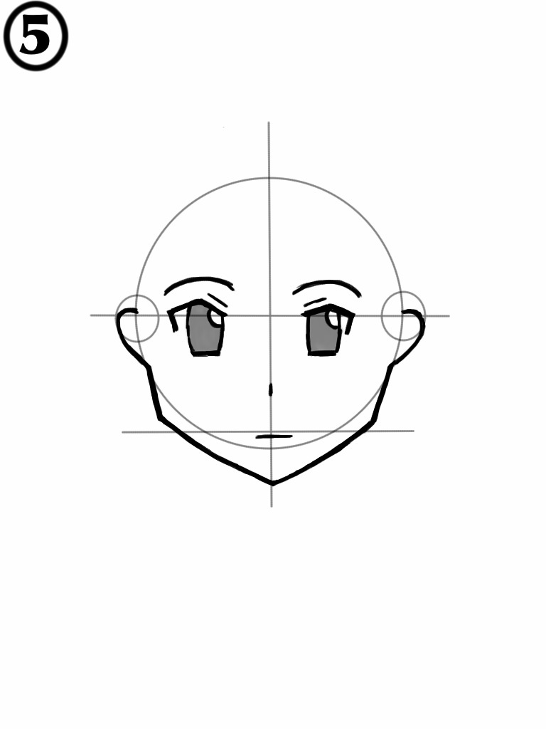 768x1024 How To Draw A Female Anime Face Nonoy Manga