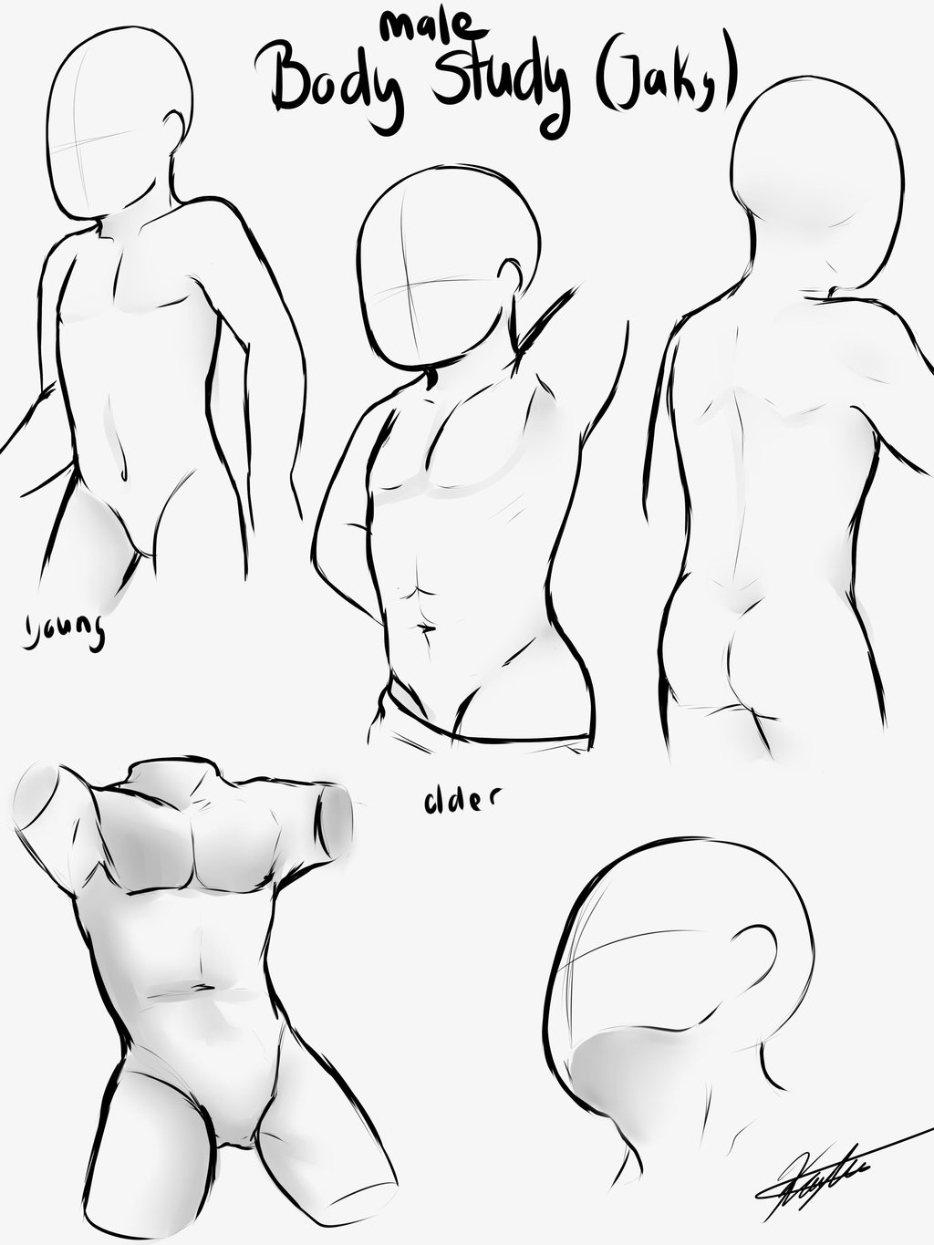 1024x1365 Body Drawing Outline Male
