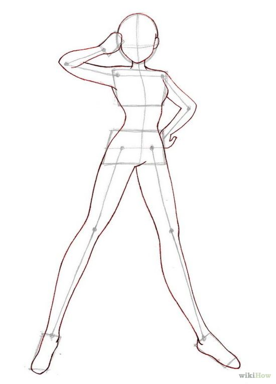 550x764 Anime step by step drawing body How To Draw Anime Bodies Step By