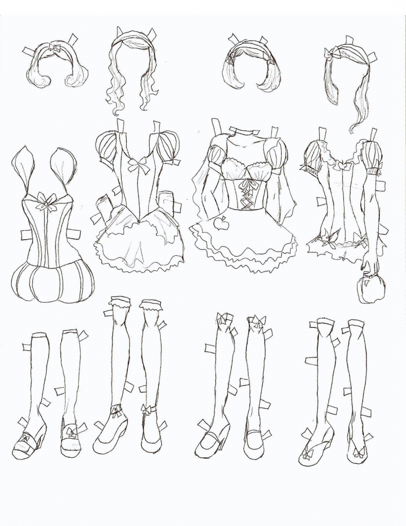 791x1024 How To Draw Anime Body Step By Step For Beginners With Dress