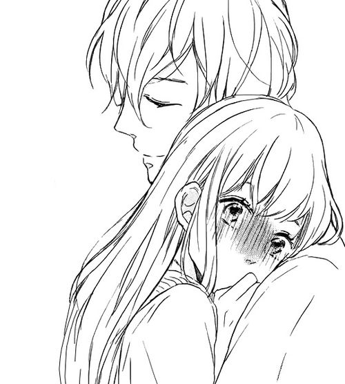 500x556 anime boy amp girl hugging welcome to my world pinterest anime