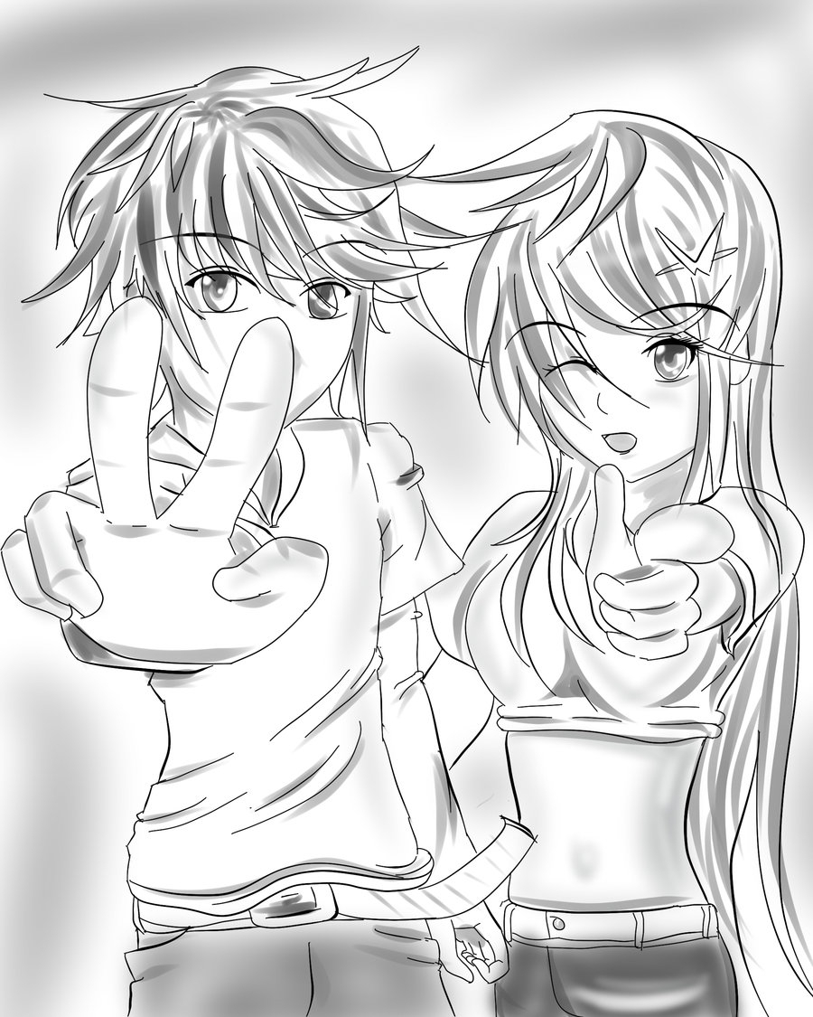 900x1125 Anime Best Friends Boy And Girl Drawing Boy X Girl By Xgodspell