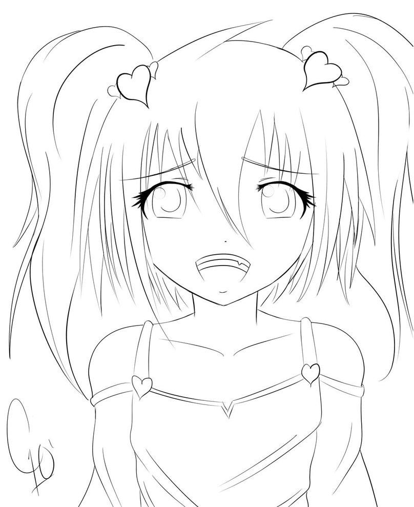 808x989 Cute Anime Girl By Chuloc