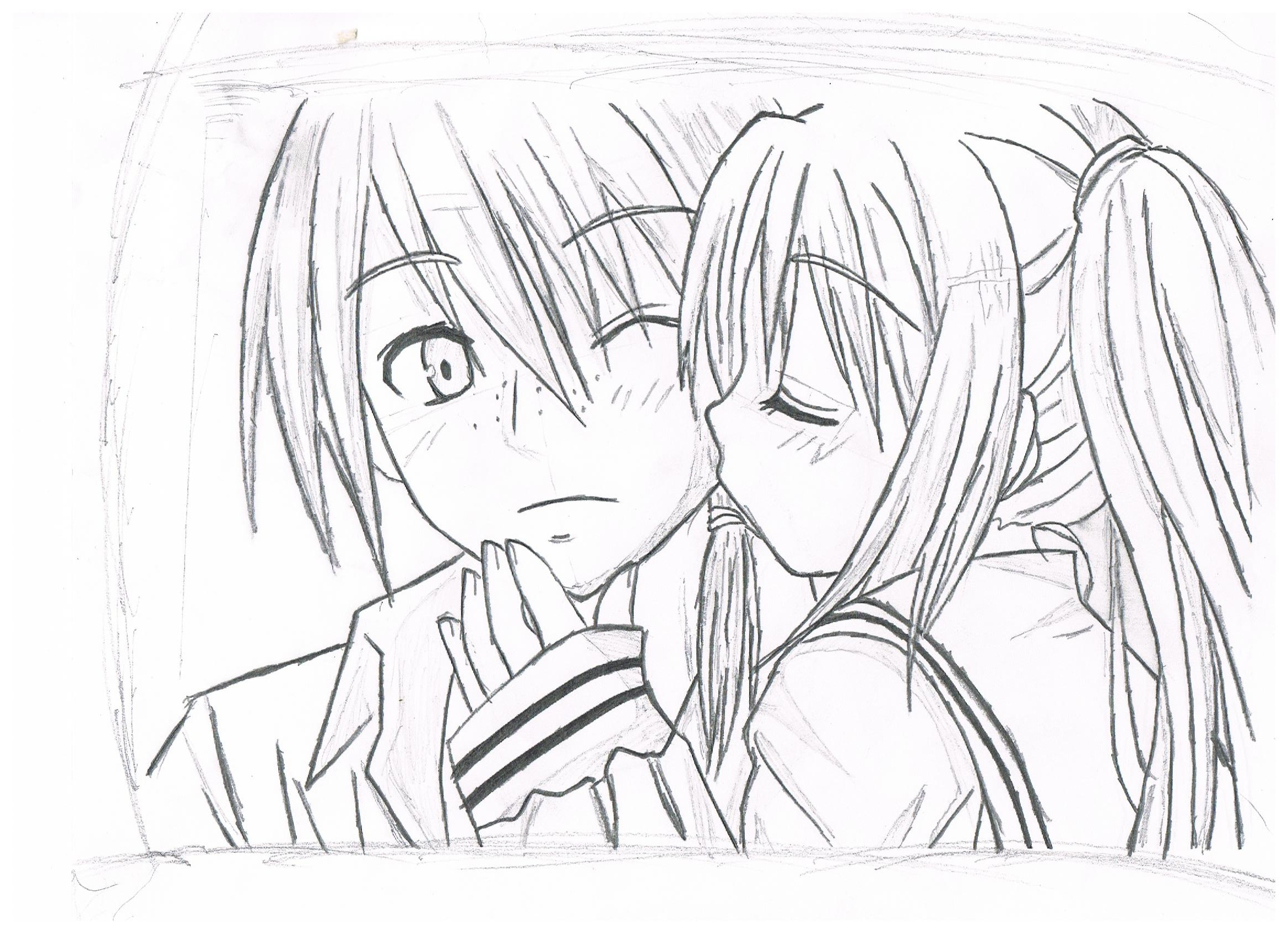 2338x1700 Anime Boy And Girl In Love Sketch Boy And Girl Drawing By Sonic288