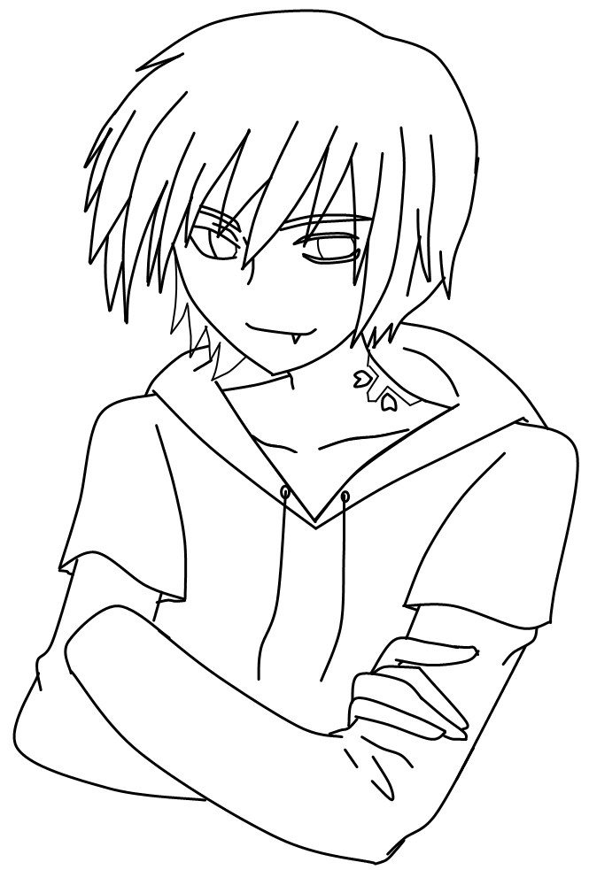 Anime Boy Drawing Base at GetDrawings | Free download