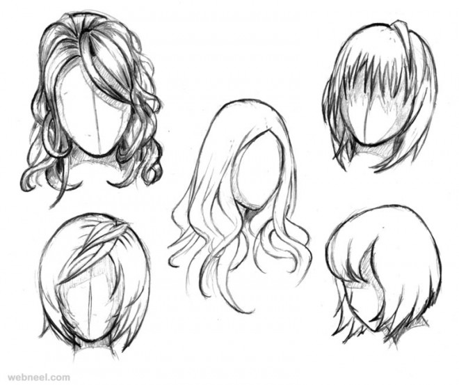 660x553 Drawing How To Draw A Cartoon Girl Hair Down Together