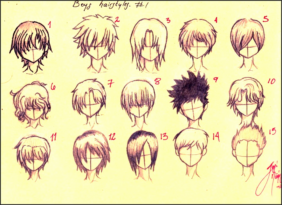 Anime Boy Hair Drawing At Getdrawings Free Download
