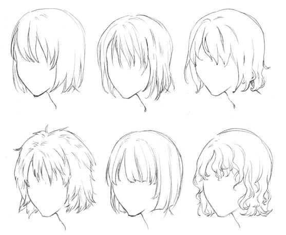 Anime Boy Hair Drawing At GetDrawings.com