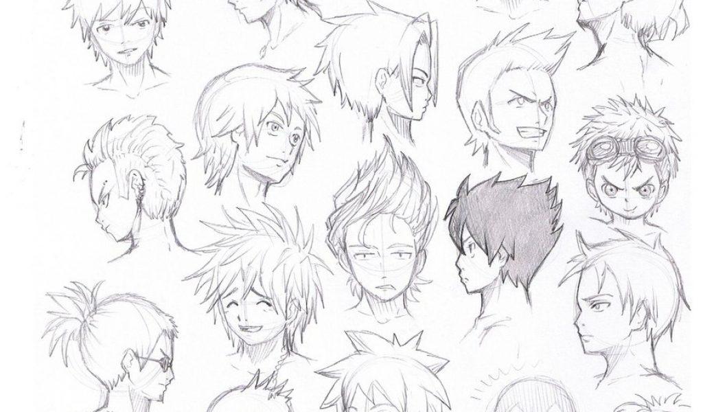 1024x600 Anime Guy Hairstyles Drawing Drawn Hair Anime Boy