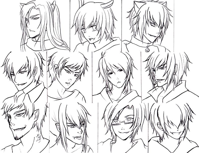 800x613 Anime Boys Hairstyles Hair Sketches Anime Boy