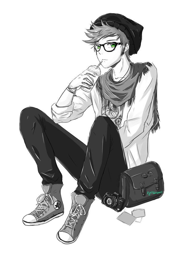 736x981 Drawn sniper anime boy
