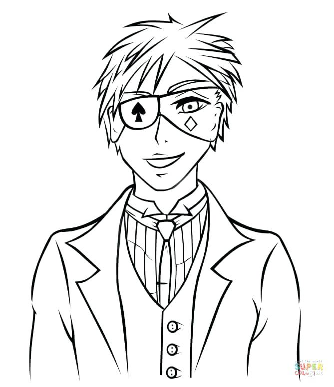 669x776 Great Anime Boy Coloring Pages New Best Images On Drawing Ideas