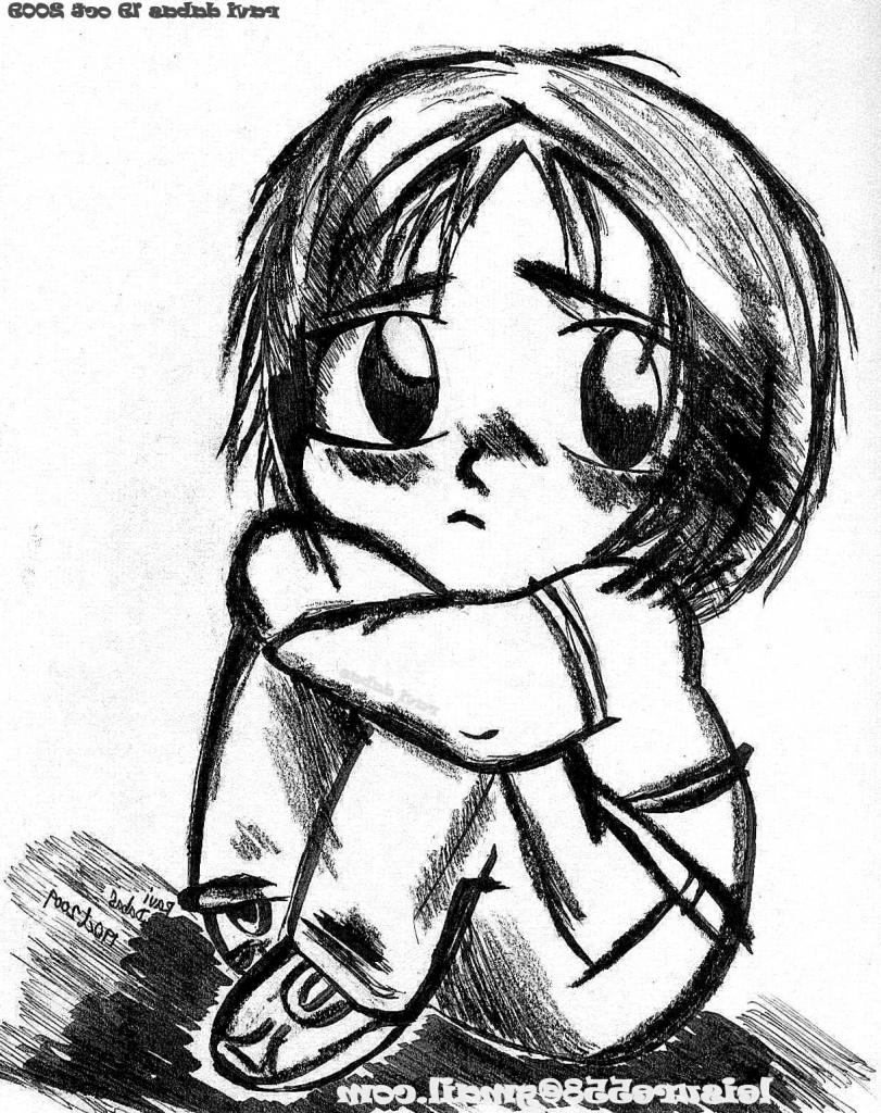 811x1024 How To Draw A Sad Anime Boys Face Sad Face Boy Drawing Anime Boys