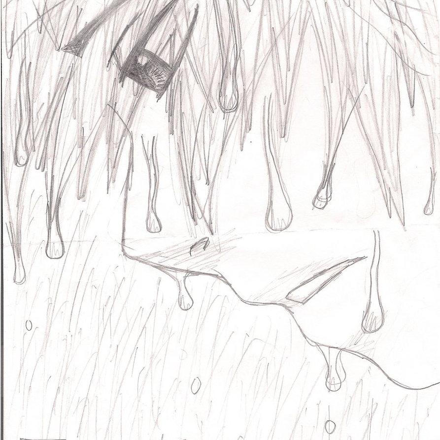 893x894 Sad Anime Boy In The Rain By Dark Punk 13