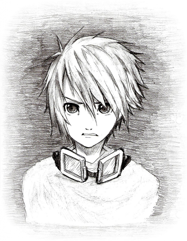 798x1024 Anime Boy Face Sketch Best Photos Of Anime Male Face How To Draw