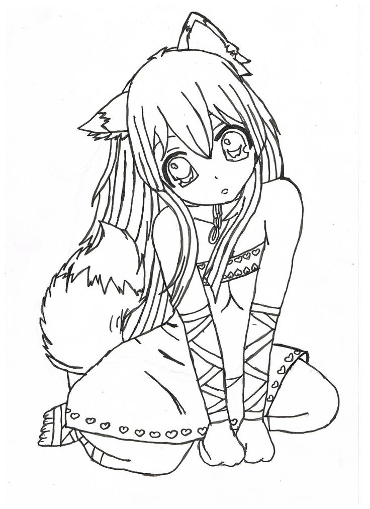 Beautiful Emo Anime Wolf Girl Www Picswe Com