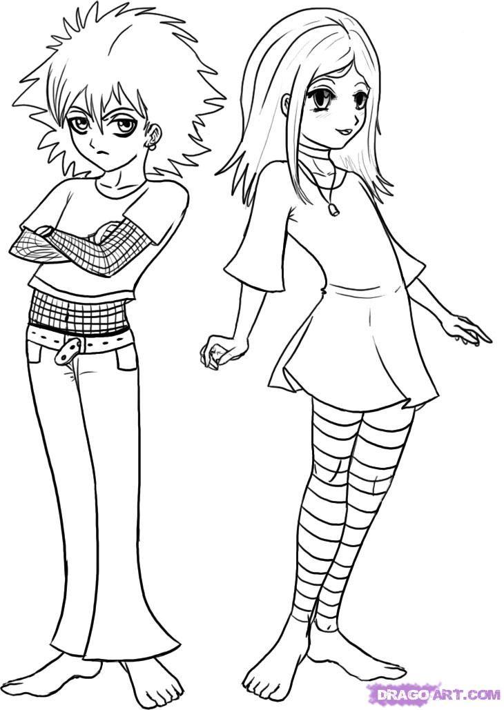 Anime Cartoon Drawing Step By Step
