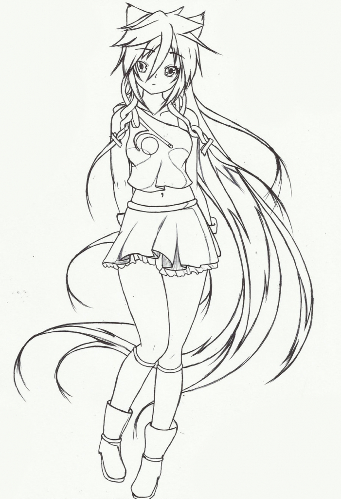 701x1024 Anime Cat Sketch Cat Girl Sketchcarldraw