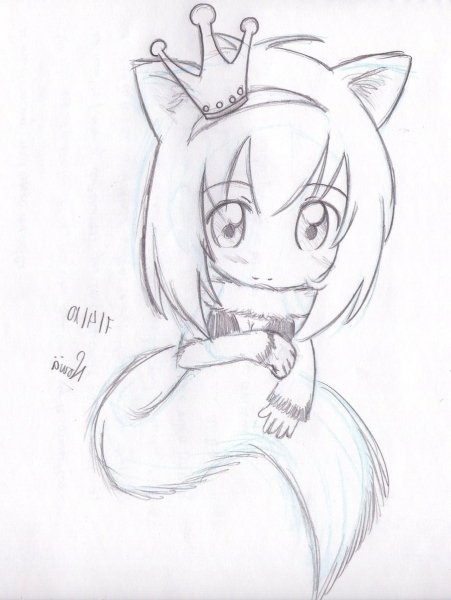 451x600 Tabby Sketch Wolf Cat Girl.nowii On Pictures Related