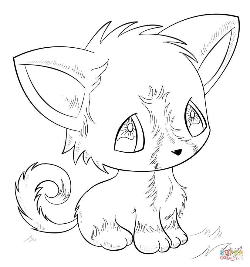 Anime Cat Drawing At Getdrawings Com Free For Personal Use